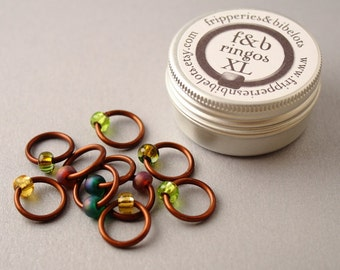 ringOs XL Woodland - Snag-Free Ring Stitch Markers for Knitting
