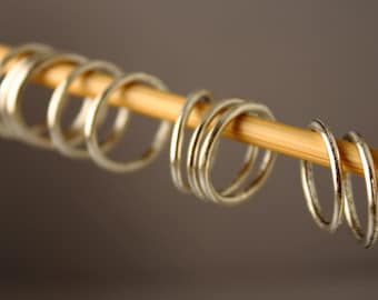 Simple Solid Snag-Free Silver Ring Stitch Markers for Knitting