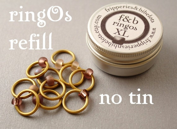ringOs XL REFILL - Dusky Sunset - Snag-Free Ring Stitch Markers for Knitting