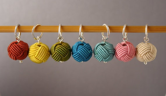 Little Balls of Wool (Set C) Stitch Markers for Knitting