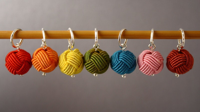Using Stitch Markers In Knitting : Little Balls of Wool Set B Stitch Markers for Knitting