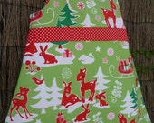 Christmas Critters Pinafore Dress
