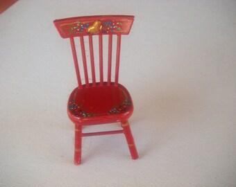 Ann's handpainted miniature kitchen chair