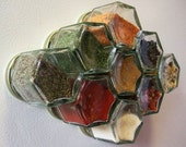 10 MAGNETIZED GLASS JARS (1.5 oz) - Perfect for Crafts, Spices, and Office Supplies