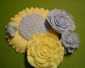 4 flower soap gift set
