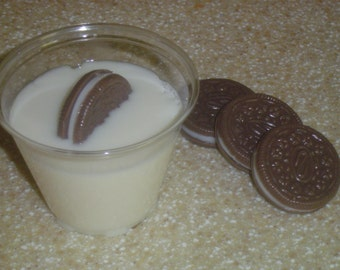 BEKAHS OREO COOKIE Fun Soap,cookies and milk for Santa,handmade glycerin,chocolate bakery soap,dessert soap,realistic food soap, faux foodie
