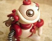 Valentine Cupid Robot - Angel Bot Brian - Valentine's Geek Gift - Clay, Wire, Paint
