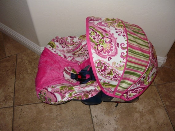 paisley and stripes infant car seat cover moves to toddler. Black Bedroom Furniture Sets. Home Design Ideas