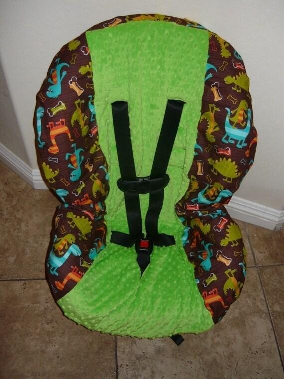 dino dudes toddler car seat cover fits infant too. Black Bedroom Furniture Sets. Home Design Ideas