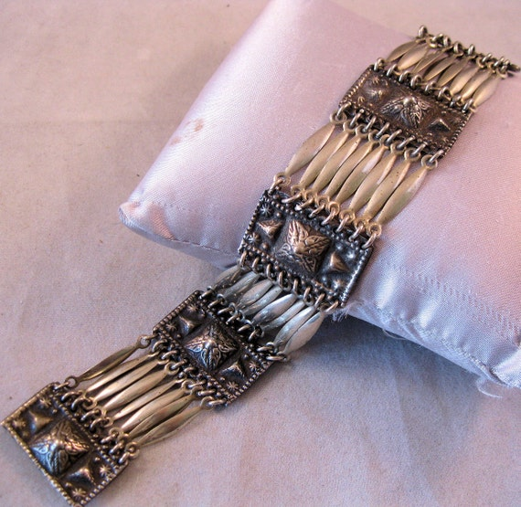 1930s Mexican Silver Bracelet