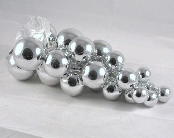 Plastic Christmas Balls for Wreath Decorations Silver