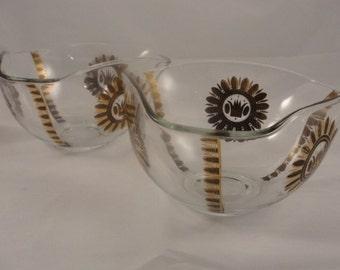 Vintage Georges Briard serving bowls in Regalia pattern set of 2