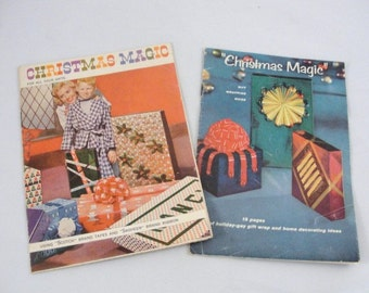 Vintage Christmas Magic pamphlets from 3M  How to decorate your gifts and home