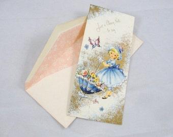 Vintage unused Greeting card Happy Birthday
