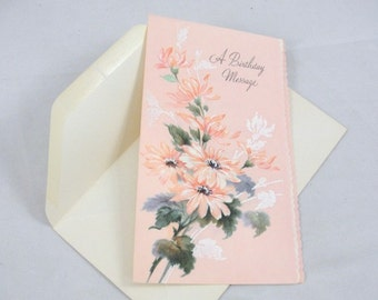 Vintage unused Greeting card Birthday Message