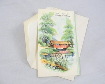 Vintage unused Greeting card Happy Birthday