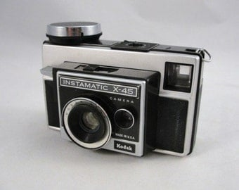 Vintage Kodak camera, Kodak Instamatic X-45, vintage film camera