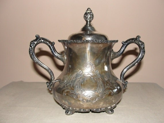 Forbes Silver Company Sugar Bowl with lid