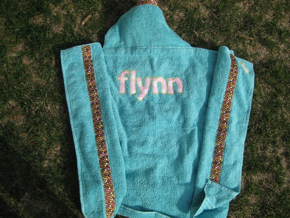Flynn, Personalized Hooded Bath Towel ***REDUCED PRICE***