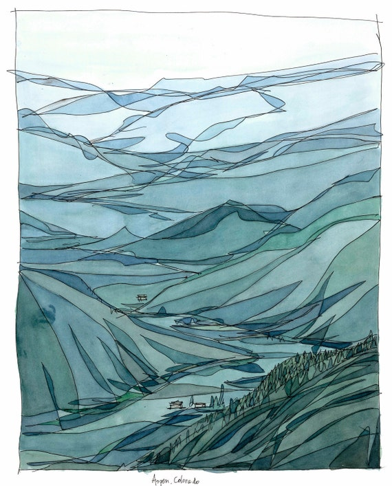 Aspen Colorado  Giclee Print   Title: Hiking with George