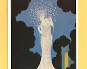Fantasia by Erte (serigraph, 1982) - POST CARD copyright 1984 by Sevenarts