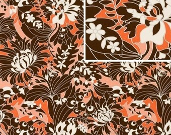 Amy Butler August Fields Home Dec Full Bloom Coral LAST 1 1/2 YARD CUT