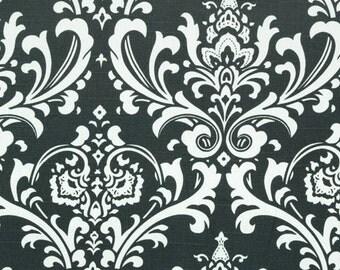 Premier Prints Ozborne.....Charcoal/White Slub.....Home Decor fabric LAST YARD