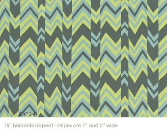 Amy Butler Nigella Ritzy Stripe Fabric Nickel 1 Yard CLOSEOUT