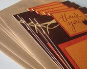 RESERVED for smoyercathy- Autumn Leaf Thank You Note Flat Card Set Pack qty 100