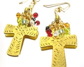 Bold Cross Earrings