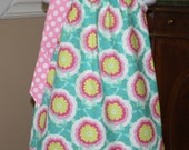 baby toddler girl Easter Pillowcase Dress Michael Miller Amy Butler Buttercup pink. green, yellow, white, polka dot girls easter dress