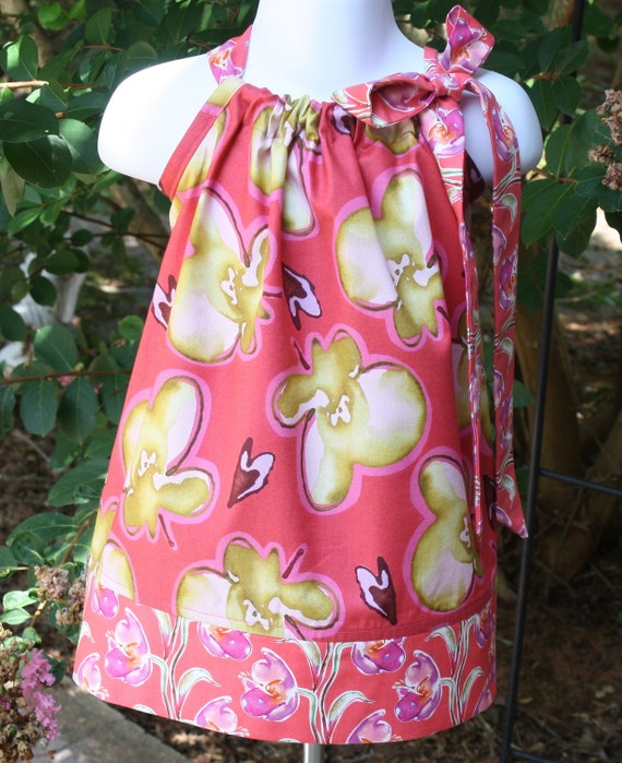 Pillowcase dress Rose Pink Persimmon READY to SHIP SALE by Blake and Bailey