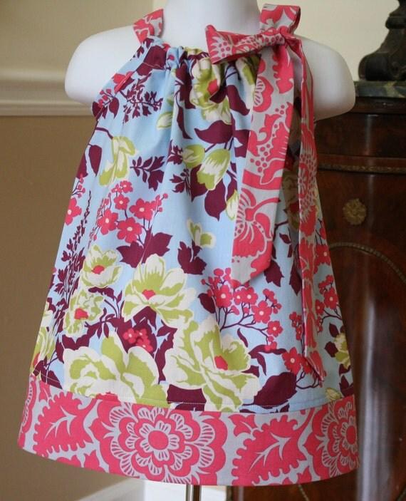 baby girl Pillowcase dress Easter dresses Joel dewberry heirloom blue , girls dress, toddler pillowcase dress