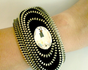 The Space Zipper Bracelet Cuff