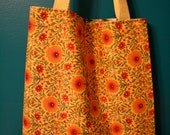 Tote Bag-Reversible Floral