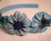 Blue Flowers Headband