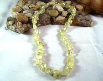 Yellow Green Iceflake Quatz Beads