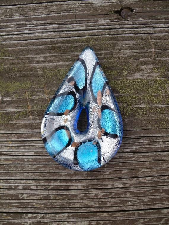 Artisan Dichroic glass pendant