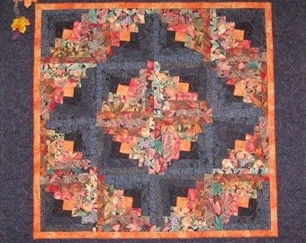 Log Cabin Wall Hanging Quilt