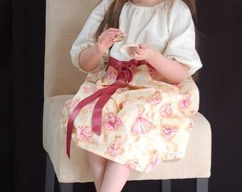 Pink Purple Ballerina Dress Satin Ribbon Smock - Choose Size 6m - 5T