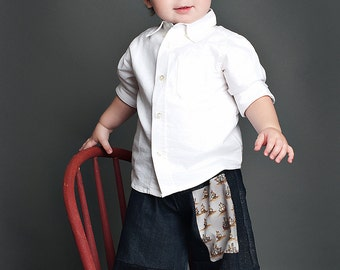 Denim Jean Pants with Pirate Sailboats Patchwork sizes 6months to 5T