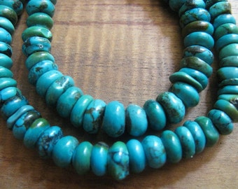 Turquoise 6mm Rondell Beads