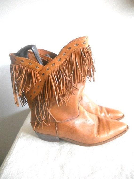 Brown Sugar Fringe Boots 9
