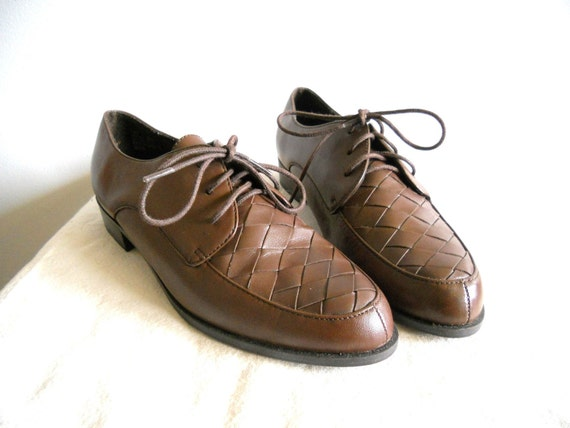 Chocolate Brown Woven Oxfords 8