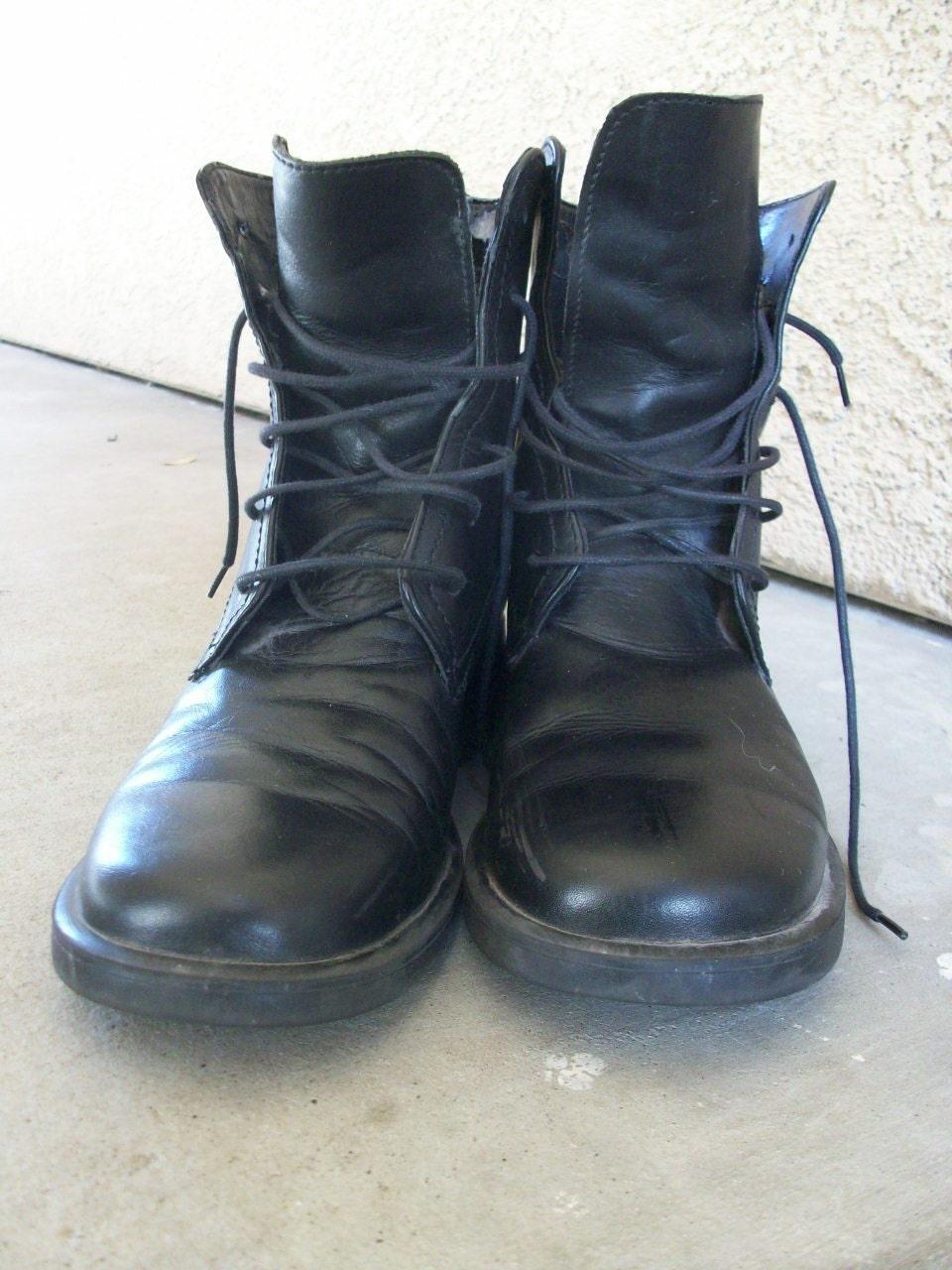 vintage black lace up boots s 6 5 s