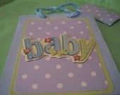 Set of 2 Baby Boy Gift Bags w/ Tags
