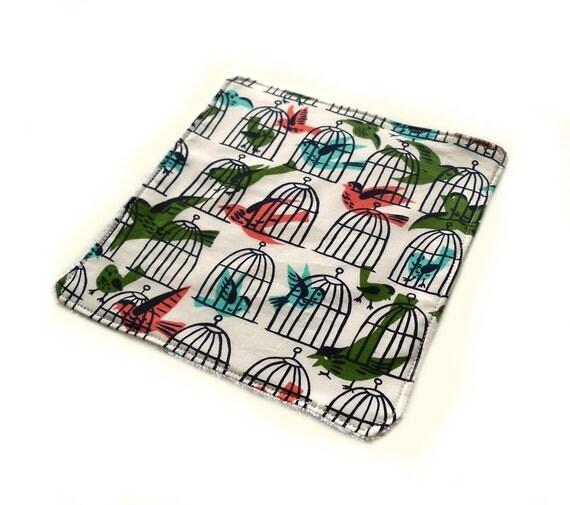 Caged Birds - Dish Cloth
