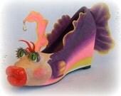 Paper Mache Fish Shoe  OOAK