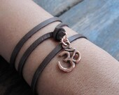 The Om symbol wrap around bracelet
