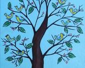 "Acrylic Original Painting ""Twitter"""